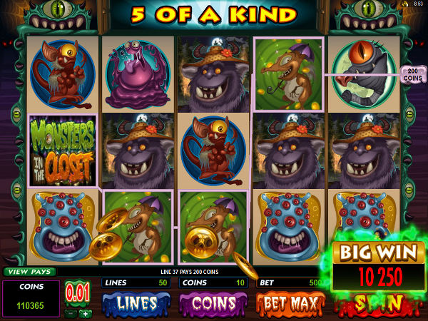 Try The Monsters In The Closet Slots With No Registration