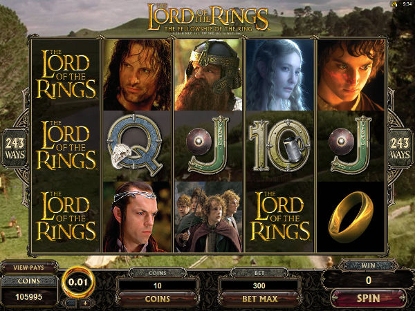 Lord Of The Rings in game