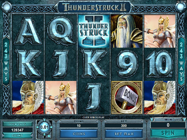 Thunderstruck II in game screenshot